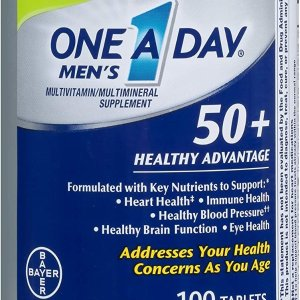 One A Day Men's 50+ Healthy Advantage Multivitamin, 100 Count