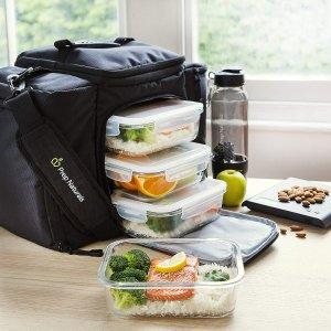 $20.79 (原价$39.99)闪购:Prep Naturals 玻璃保鲜盒、午餐盒,36oz,5只