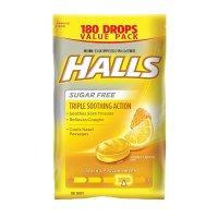 HALLS 蜂蜜柠檬止咳润喉糖 180颗
