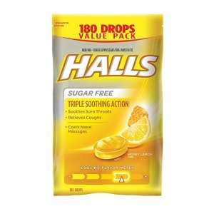 $5.58Halls Sugar-Free Cough Drops, Honey Lemon, 180 Count