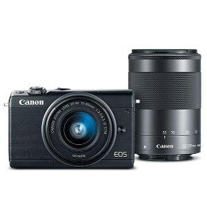 史低价:Canon EOS M100 + 15-45mm + 55-200mm 无反相机套装