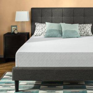 10寸Queen只要$199 低至$84.15Zinus 升级版凝胶深睡绿茶记忆海绵床垫热卖 多种尺寸