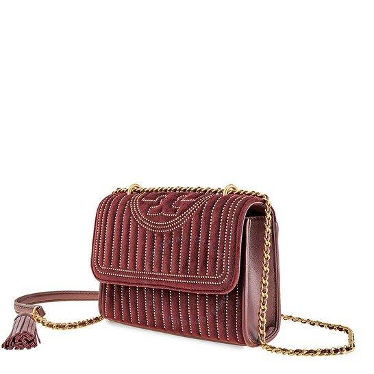 Fleming Velvet红色丝绒斜挎包