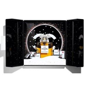 送香奈儿小样+2个自选小样+倩碧睫毛膏新品上市:尖叫!一打开是雪花片片的香奈儿乐园,CHANEL圣诞礼盒德国开售啦