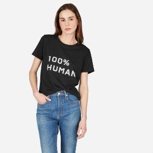 EverlaneThe 100% Human Box-Cut Tee in Medium Print