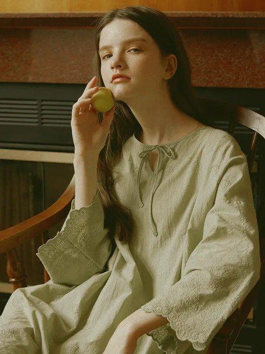 牛油果绿睡裙