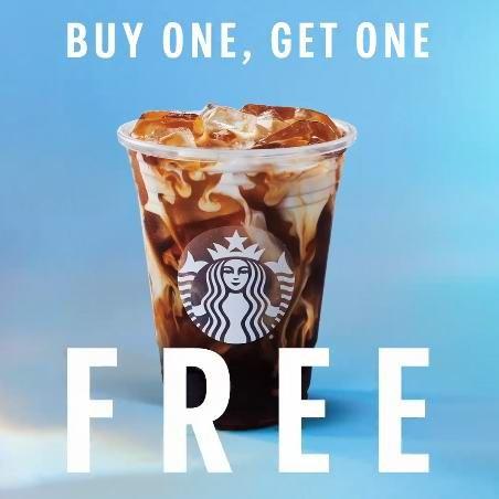 Starbucks 星巴克 本周内买一送一Starbucks 星巴克 本周内买一送一