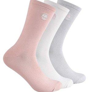 3双装 $10.84起Timberland 女士超舒适袜子热卖 春夏浅色系