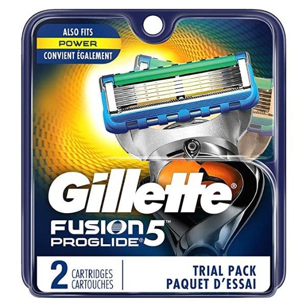 Gillette Fusion5 ProGlide 男士剃须刀替换刀头 2个