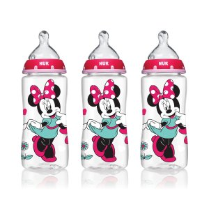 NUK® Bottle with Perfect Fit™ Nipple, Disney® Minnie Mouse 10-Ounce Medium Flow, 3 Pack
