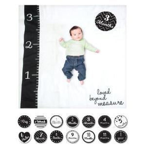$19.96(原价$24.99)Lulujo 宝宝月龄拍照毯 我家宝贝初长成 一毯多用好柔软