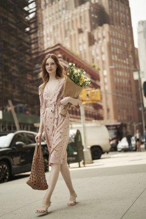 Quanta du Soleil - Cinnamon Floral Wrap DressP/XS - Final Sale