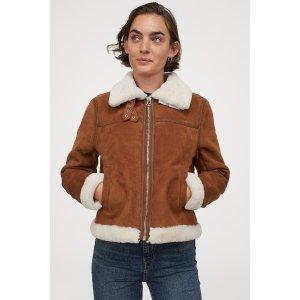 H&M皮毛一体外套
