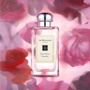 免费刻字+送爱心包装礼盒Jo Malone 红玫瑰系列香氛 情人节送她不凋谢的芬芳爱意