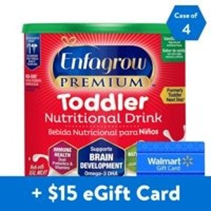 Enfagrow送$15礼卡幼儿 Premium香草味奶粉24盎司*4罐