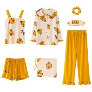 7件套小黄鸭睡衣