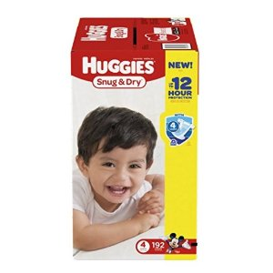 $25Huggies Snug & Dry Diapers, Size 4, 192 Count (One Month Supply) @ Amazon