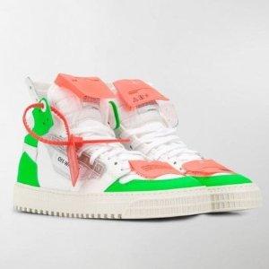 低至8折,鞋子£135起OFF WHITE 潮牌届最热品牌现有给力折扣 入网红高帮鞋