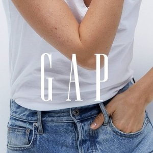额外5.4折Gap 全场促销 折扣区折上折 T恤$5,连体衣$21,茶歇裙$32