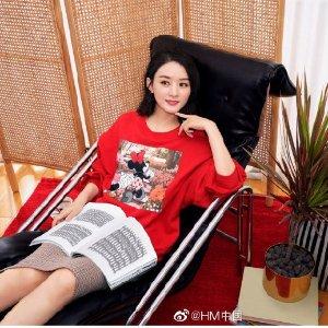 H&M赵丽颖同款赵丽颖米妮卫衣