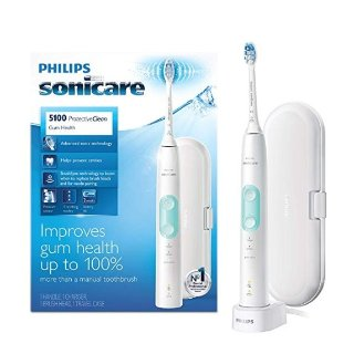 $59.95Philips Sonicare ProtectiveClean 5100 Gum Health, Rechargeable electric toothbrush with pressure sensor, White Mint HX6857/32