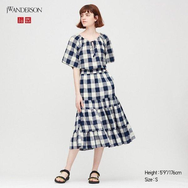 J.W.Anderson 合作款格纹连衣裙