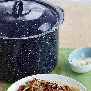 $15.41(原价$25.02)史低价:IMUSA 搪瓷汤锅 6夸脱容量 炖菜煮面锅 导热快易清洁