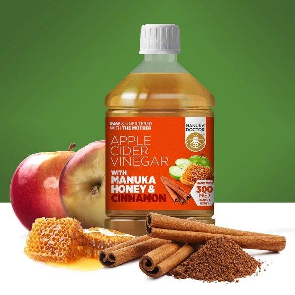 麦卢卡蜂蜜肉桂苹果醋