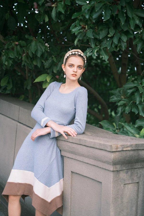 Scarlett连衣裙- Dusty Blue