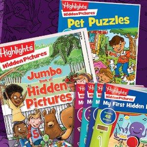 眼力比拼书6折 迷宫拼图书7.5折Highlights 趣味童书促销 影响几代美国孩子的教育品牌