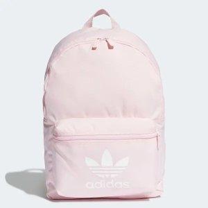 Adidas纯色双肩包 粉色