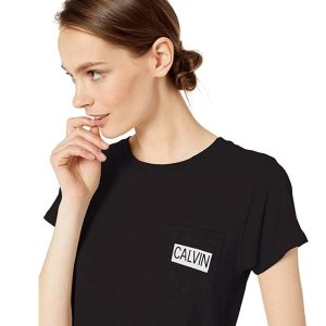 For $17.7Calvin Klein Logo T-Shirt @Amazon.com