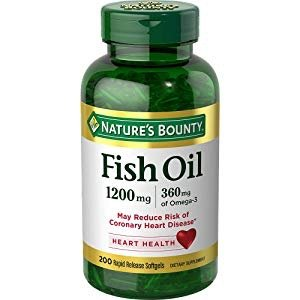 $8.18Nature's Bounty Fish Oil 1200 mg Omega-3, 200 Rapid Release Softgels
