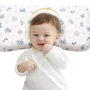 $30.29(原价$37.99)Mkicesky 宝宝记忆泡沫枕 承托颈椎 宝宝再也不要睡平头啦