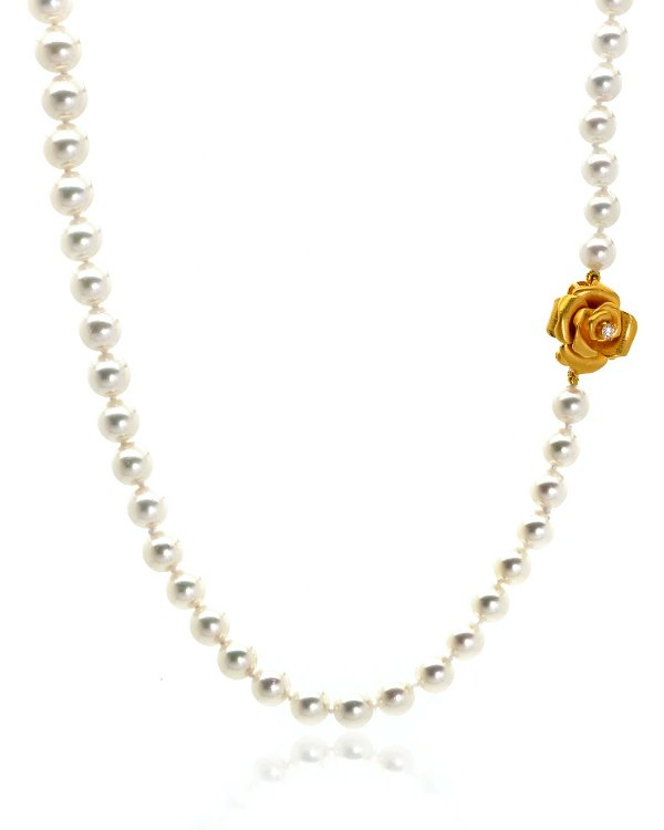 18K黄金珍珠项链