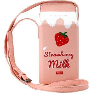低至6.5折 $17收巧克力牛奶包果汁牛奶包 可爱系少女出街单肩包 多款式选择