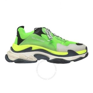 BalenciagaMen's Green Triple S 'Very Fluo' Sneakers