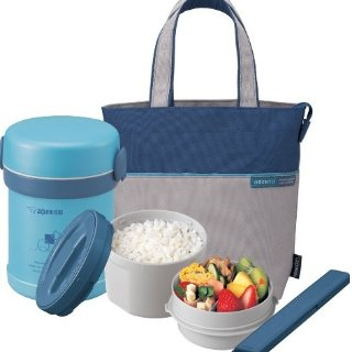 $25.81Zojirushi SL-MEE07AB Ms.Bento Stainless Lunch Jar, Aqua Blue