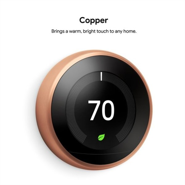 Nest Learning Thermostat - 3rd Generation - Copper