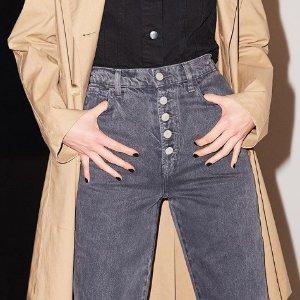 全场$56.21起时尚男女牛仔裤热卖 收J Brand Robin's Jean 高腰破洞款