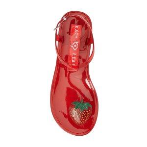 Katy Perry草莓果冻凉鞋