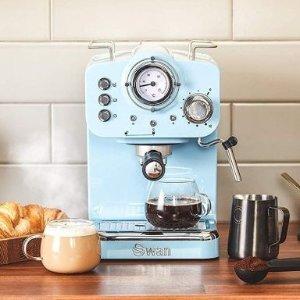 5色可选Swan Retro Pump Espresso 网红浓缩咖啡机 高颜值北欧风