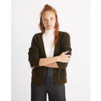 Madewell Short Kent Ex-Boyfriend Cardigan Sweater in Tonal Herringbone
