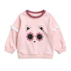 2倍积分 粉粉嫩嫩哒女童粉色卫衣
