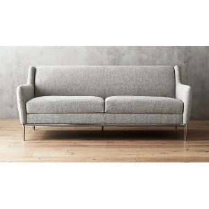 CB2Alfred Stone Grey Sofa + Reviews | CB2