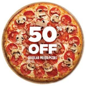 全场披萨5折 限今日4月4日