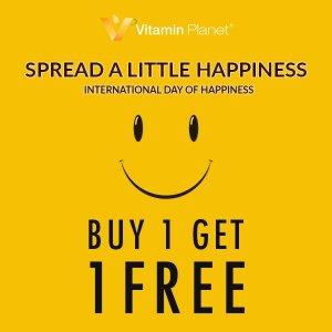 买一送一国际幸福日 Vitamin Planet关爱你的身体希望你快乐