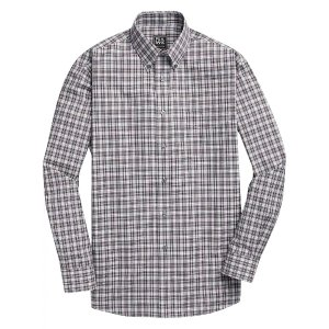 Traveler Collection Traditional Fit Button-Down Collar Plaid Sportshirt CLEARANCE