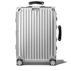 Classic Cabin S Aluminum Small Carry-On Suitcase | Silver | RIMOWA