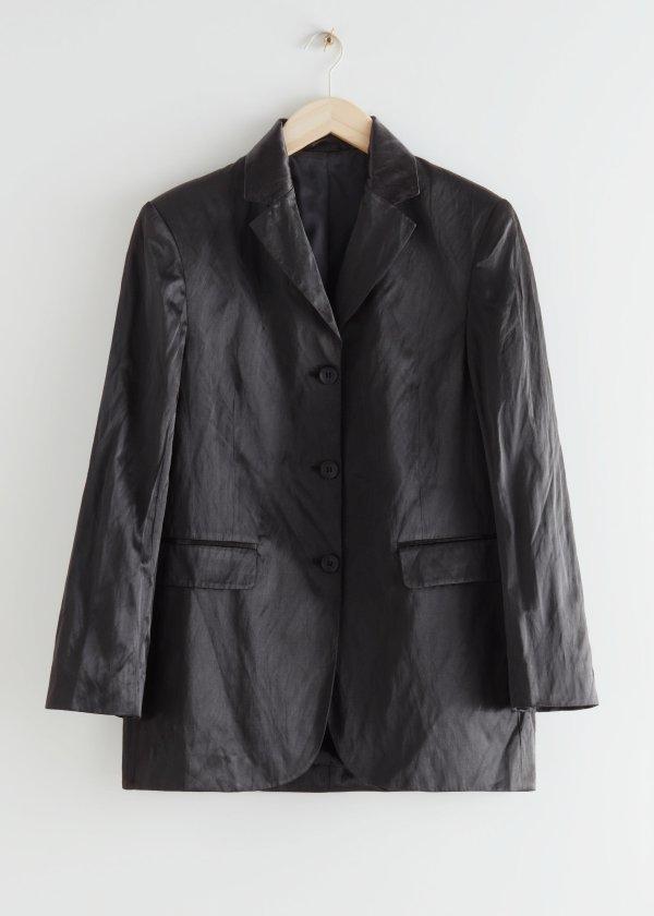 男友风西装外套